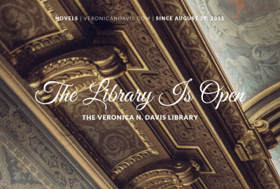 The Library Is Open at www.veronicandavis.com
