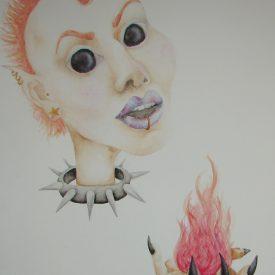 Girl Holding Flame at www.veronicandavis.com