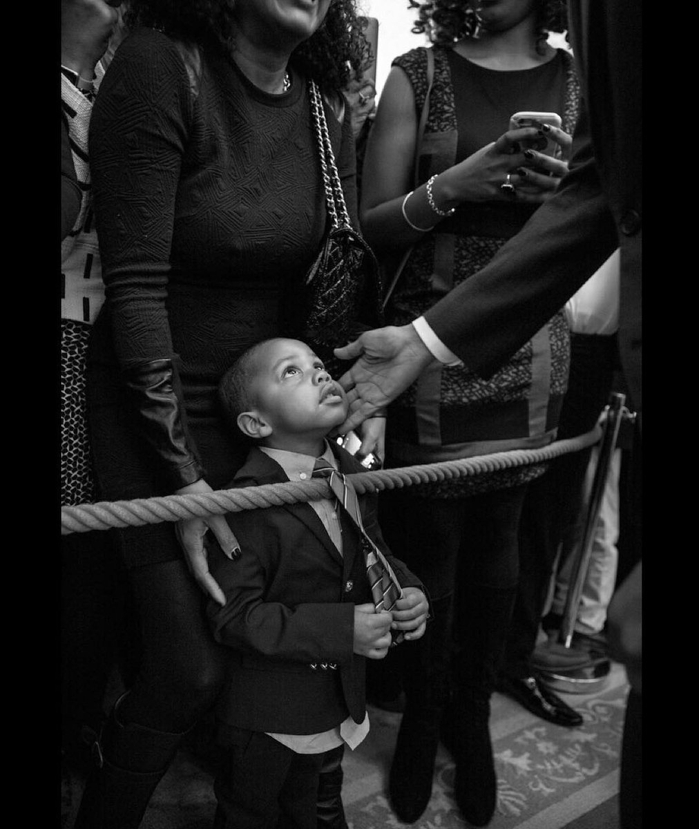 Black History Month Photo Features President Obama and young child.