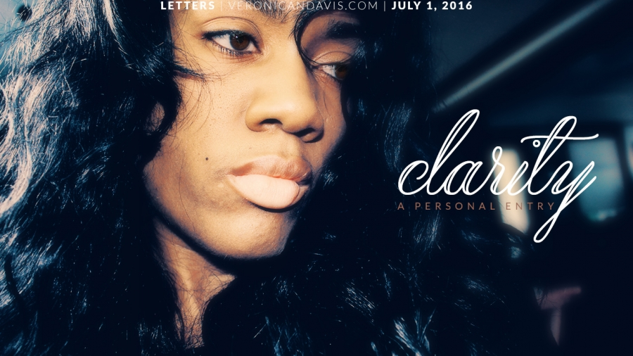 A blog entry by Veronica N. Davis called CLARITY