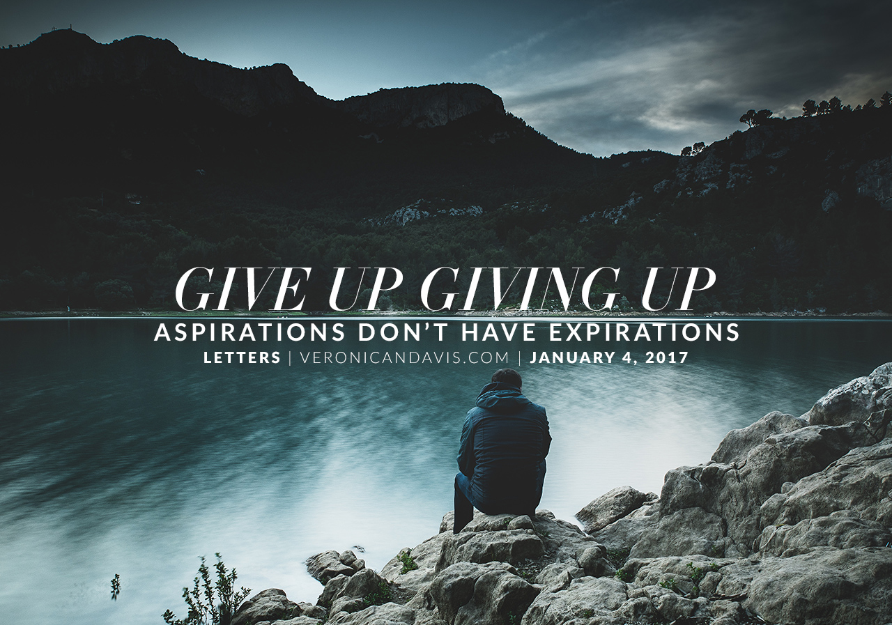 Give Up Giving Up - Veronica N. Davis - Blogger Graphic Designer Author