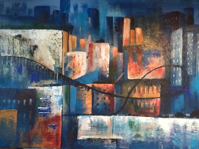 Downtown L (36 x 36)