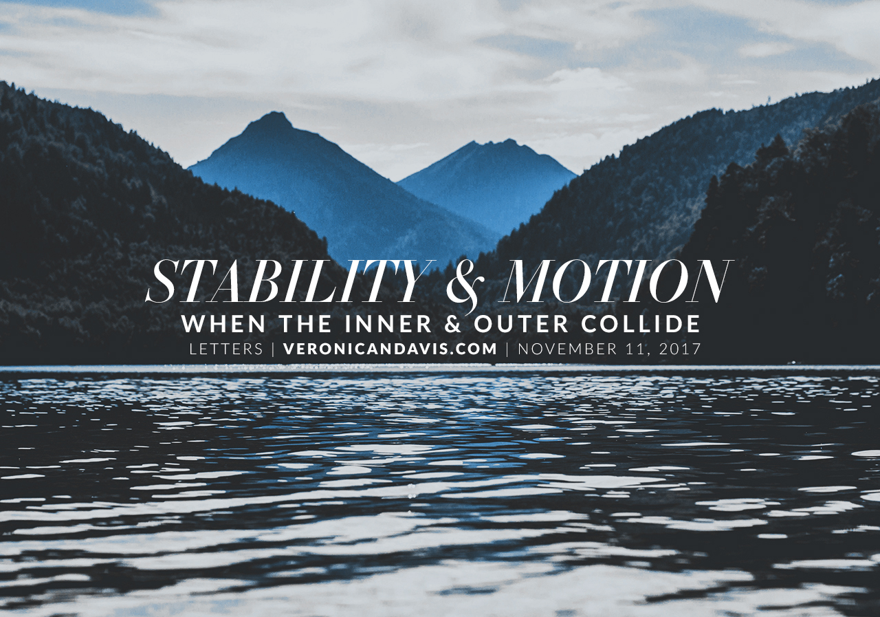 Veronica N. Davis Blog - Stability & Motion - Mountains and Water View
